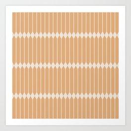 Minimal Geometric Pattern - Peach Art Print