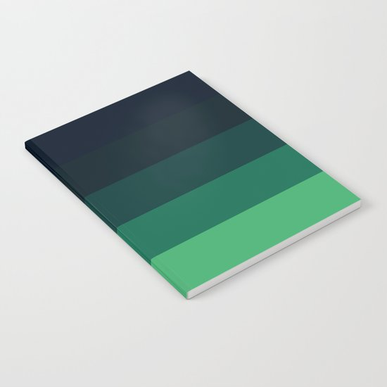 Forest Green Stripes Notebook