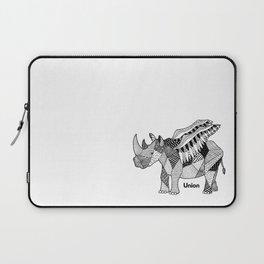 Illustrated Rhino – Union – Black Laptop Sleeve