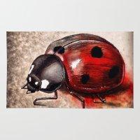 ladybug Area & Throw Rugs featuring Ladybug by Werk of Art