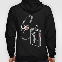 Walkman Tape Player Audio Analog Cassette Old School Music Geek Vintage Design Hoody