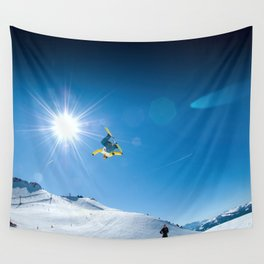 Snow time Wall Tapestry