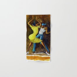 Classical African-American Masterpiece 'The Dancing Couple' by Ernie Barnes Hand & Bath Towel