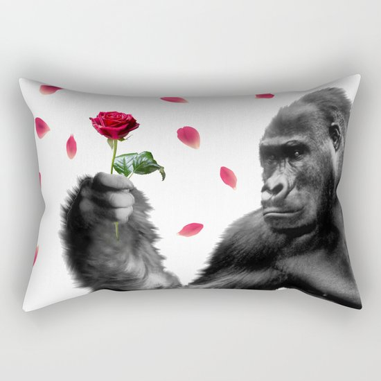 Gorilla In Love Rectangular Pillow