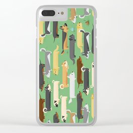 Dogalogs (grass version) Clear iPhone Case