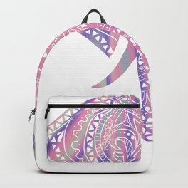 Mandala Elephant Gift Pastel Rainbow Vaporwave Tribal Design graphic Backpack