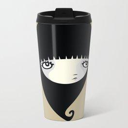 Black Drop Metal Travel Mug