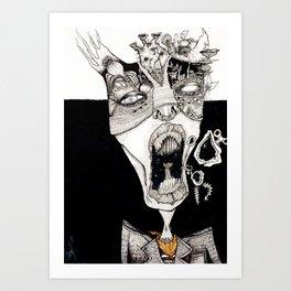 Put on your Mask  Art Print
