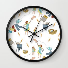 Vintage Laundry Day! Wall Clock