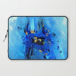 Blue, Black and White Laptop Sleeve