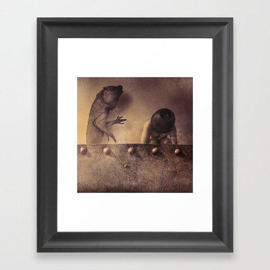 The Lizard Passes Judgment Framed Art Print