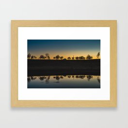 Sunset Sky. || Reflection. || Orange Sky. || Sunrise. || Europe. || Lake. || Landscape. || Travel Framed Art Print