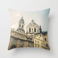 Prague at sunset Throw Pillow