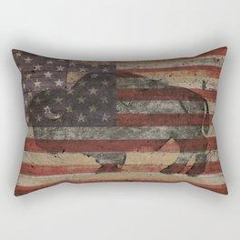 American Bison Rectangular Pillow