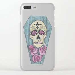 Day of the Dead Coffin Clear iPhone Case