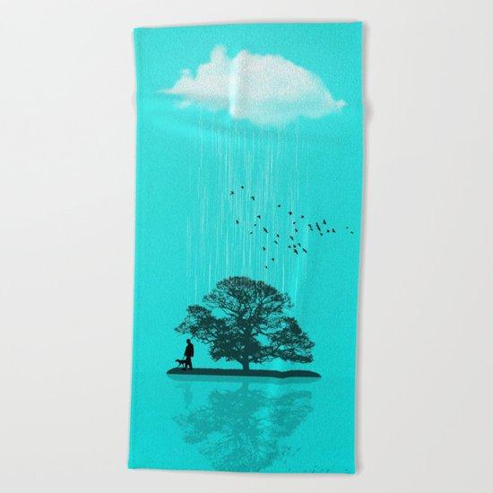 One Tree Hill Beach Towel