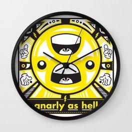Gnarly As Hell Wall Clock