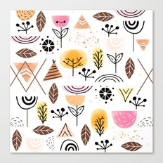Mid-Century Awesome (Pink) Canvas Print