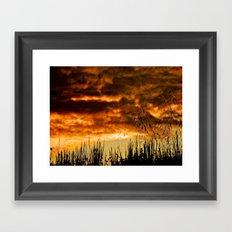 When Storm & Sunset Meet Framed Art Print