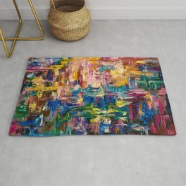Abstract - Colorful World by Lena Owens Rug