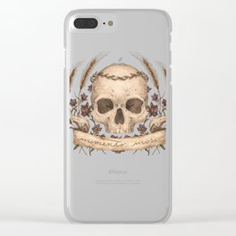 Memento Mori Clear iPhone Case