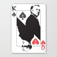 house of cards Canvas Prints featuring House Of Cards by capperflapper