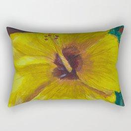 Yellow Hibiscus Flower  Rectangular Pillow