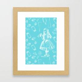 Alice in Wonderland and Jars Framed Art Print