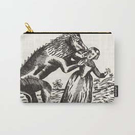 Werewolf attack Medieval etching Carry-All Pouch