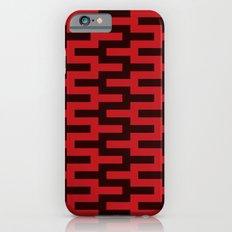 Black & Red Zigzag Slim Case iPhone 6s