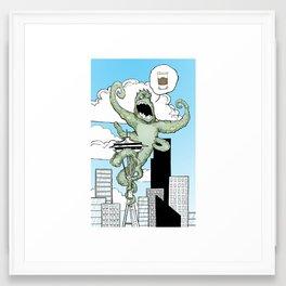 Coffee Monster Framed Art Print