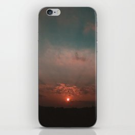 Sunset over the South Downs iPhone Skin