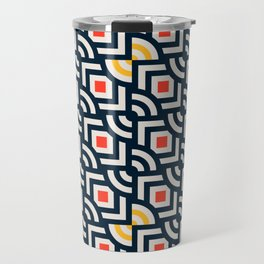 Round Pegs Square Pegs Navy Blue Travel Mug