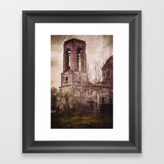 Church in ruins Framed Art Print