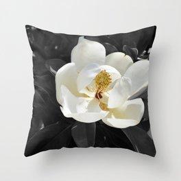 Steel Magnolias - Sweet scented white Magnolia flower Throw Pillow