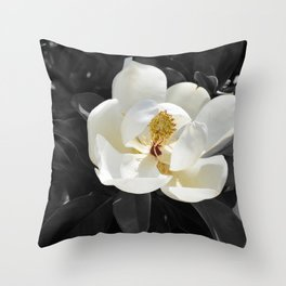 Steel Magnolias - Sweet scented white Magnolia flower Throw Pillow