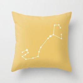 Scorpio Zodiac Constellation - Golden Yellow Throw Pillow