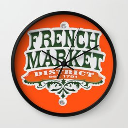 Signs: The French Market Wall Clock