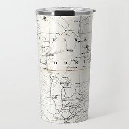 Northern California Map 1866 Travel Mug