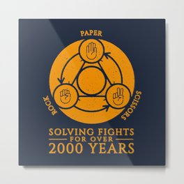 How to solve a fights Metal Print