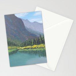 Bertha Lake, Waterton Acrylic Painting Stationery Cards
