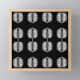 TROPICAL PALMS . BLACK + WHITE Framed Mini Art Print