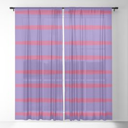 Violet and red Sheer Curtain