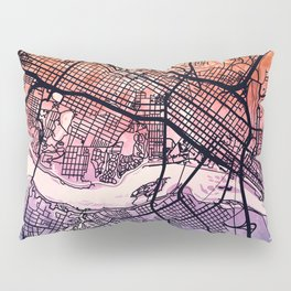 Richmond Virgina City Map Pillow Sham