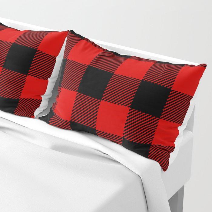 Red Lumberjack Pattern Kissenbezug