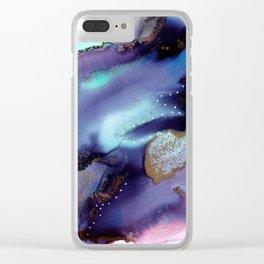 Colour burst 2.0 Clear iPhone Case