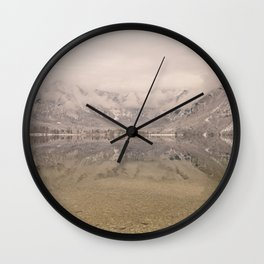Lake Bohinj Reflection Wall Clock
