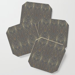 Art Deco in Gold & Grey Coaster
