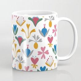 Fantasy Flowers – Blue Bell – Scandinavian Folk Art Coffee Mug