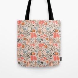 Mongolian Expanse Pattern Tote Bag